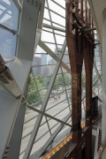 9/11 museum: inner façade view from 1st floor gallery
