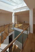 Arthron: ground-floor view of bungalow staircase