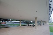 Brasilia-Palace: pilote-elevation before main-entrance 1