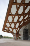 Centre Pompidou-Metz: western roof-arch