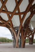 Centre Pompidou-Metz: roof support, detail