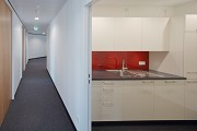 Euro-Tower, Frankfurt: 32. level - kitchenette and floor