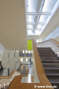 ForMed, Giessen: lobby-staircase, axial-view (photo: Erazo, Stadtmüller)
