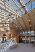 A2 Gotthard motorway-station: stairhouse towards east, Wilhelm-Tell-Sculpture