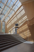 A2 Gotthard motorway-station: stairhouse, shadows, fig. 1