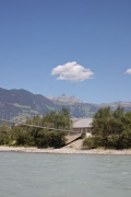 A2 Gotthard motorway-station: western-view from Reuss river-bank