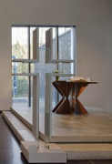 Heinsberg Christ's church: altar, shifted-view