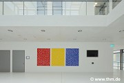 New Chemistry, JLU Gießen: artwork inside auditory-center lobby; photo: Mehl (demo)