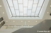 New Chemistry, JLU Gießen: skylight of auditory-center lobby; photo: Dern
