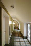 Hunting lodge Kranichstein: extension's 1st floor corridor