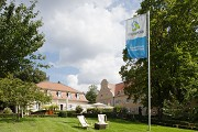 Hunting lodge Kranichstein: hotel and client's flagg