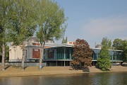 Musée La Boverie: south-eastern view from the other Maas shore