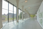 Musée La Boverie: the new hall is divided by temporary interiors