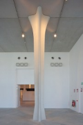 Musée La Boverie: the cross-pillars are lighted by spotlights