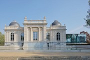 Musée La Boverie: southern façade's and water-basin