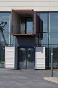 Liebherr, Hamburg: main entrance consisting of two overseas containers, fig. 3