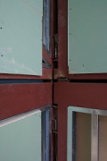 Construction site System Building, detail steel-joint 2