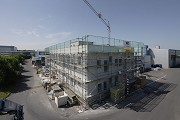 Construction site System Building, northeast view, elevated