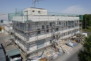 Construction site System Building, southeast view 1, elevated