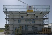 Construction site System Building, eastern view