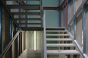 Construction site System Building, stairs 2