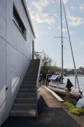 M. Boathouse: entrance stairs at northern façade