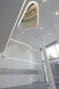 Merton's Middle: transition lightwell to entrance-hall