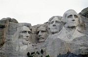 Mount Rushmore: president portrait's close-up