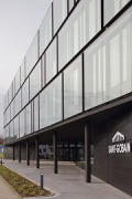 Saint-Gobain: main-entrance and company-logo