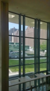 UN-Haedquarters: view-out of General Assembly garden-lobby