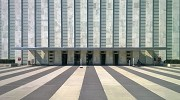 UN-Haedquarters: General Assembly Buildings' north-eastern main-entrance
