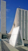 UN-Headquarters: north-eastern terrace with artwork