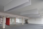 BASF Pfalzgrafenstraße: open-office with red single-work-cube 1