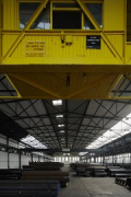 Becker steelworks, pipe hall: gantry crane