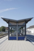 Bedburg Station: southern view shelter track 2