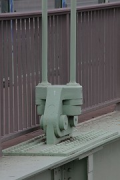 Rodenkirchen bridge: roadway anchoring of vertical cable, zoomed