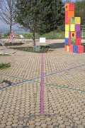 playground with wood pavement