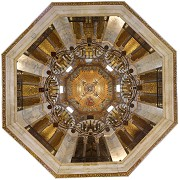 bottom view of octogonal dome with lighted 1. floor