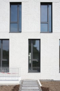 Eastsite Mannheim: Eastside VII - Its façade-texture reminds to conducting paths