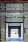 ebm-papst: inside logistic-center, open loading-ramp