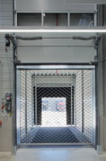 ebm-papst: inside logistic-center, open loading-ramp with rolling-grill
