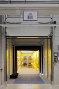 ebm-papst: inside logistic-center, open loading-ramp, truck