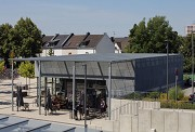 Erftstadt railway station: plattform-view from Northeast, zoomed