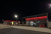 Erftstadt railway station: north-eastern view at night, fig. 1