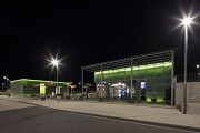 Erftstadt railway station: north-eastern view at night, fig. 2