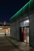 Erftstadt railway station: cycle-station entrance at night, fig. 1