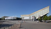 Eastern entrance Essen Fair: north-eastern view with Gruga-hall