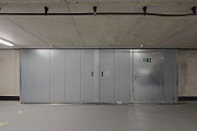 Funke media group: underground parking, fire-protection-gate, closed