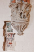 European Hansemuseum: refurbished chapter-house console-stone