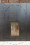 European Hansemuseum: side-chapel section-rielief and open vitrine-window
